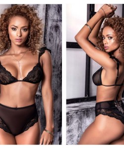 8503 Two Piece Set Color Black