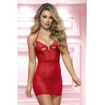 7356 Babydoll With Underwire and Matching G-String Color Red