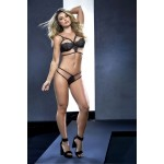 8545 Three Piece Lingerie Set Black