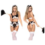 6427 French Maid Outfit Color Multi-colored