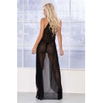 7363 Long Nightgown Color Black