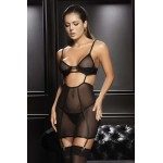 7367 Underwired Babydoll Color Black