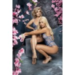 8594 Crotchless Teddy Color Blossom Blue