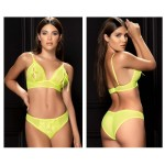 8618 Two Piece Set Color Neon Yellow
