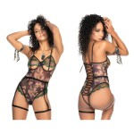 6444 Army Camouflage Military Lingerie Set