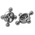 Stainless Steel Rings of Fire Nipple Press Set