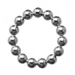 Meridian Stainless Steel Beaded Cockring 2 Inch