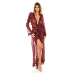 Provence Long Red Sheer Robe