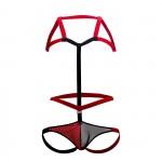 PIK 0216 Satisfaction Harness Jockstrap Color Red