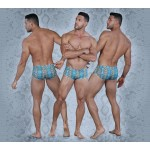 PIK 0230 Chekke Printed Trunks Color Blue