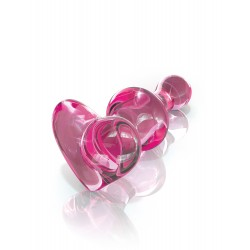 Icicles No. 75 Pink Heart Beaded Glass Butt Plug