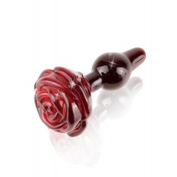 Icicles No. 76 Red Rose Glass Butt Plug