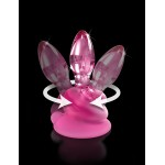 Icicles No. 90 Pink Glass Suction Cup Anal Plug