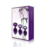 Booty Plug Set 3-Pack Black or Purple