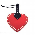Leather Heart Paddle Red