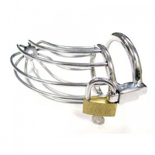 Rouge Stainless Cock Cage With Padlock