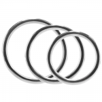 Stainless Steel 3 Piece Cock Ring Set 45, 50 & 50mm