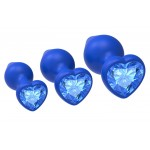 Jewels of the Seat Blue Silicone Butt Plug Set