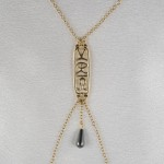 Hieroglyph of Love Non-Piercing Nipple Necklace Breast Chain in Gold or Silver