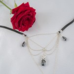 Secret Passion G-String with Hematite Pearls