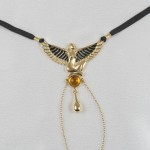 """""""Kiss of Isis"""" Gold G-String with Clitoral Drop Pendant"""