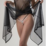 """""""Kiss of Isis"""" Silver G-String with Clitoral Drop Pendant"""