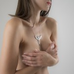 """Breath of Isis"" Non-Piercing Nipple Necklace Breast Chain in Silver"