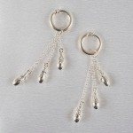 Emotions Silver Drop Pendant Charms Hoops Labia Jewelry Rings