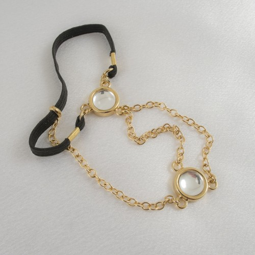 Gold Penis Chain with Crystal Gems