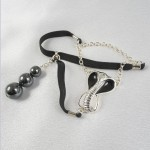 Cobra Penis Chain Jewelry with Hematite Pearl Pendant in Gold or Silver