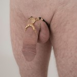 Capture-Me, Straddle-Me Penis Jewelry in Silver or Gold