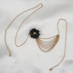 Waist Chain with Rosette Bow and Draping Chains in Gold or Silver