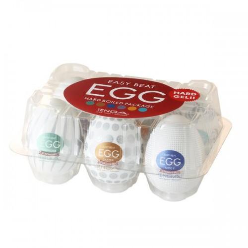 Tenga Egg Hard Boiled Strong Sensation Variety 6 Pack