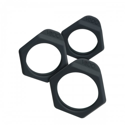 Bolt Silicone Cock Ring Set