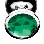 Emerald Gem Metal Anal Plug Set