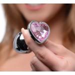 Pink Heart Gem Anal Plug Set