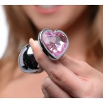 Pink Heart Gem Anal Plug Set