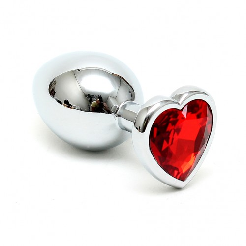 Crystal Heart Shaped Butt Plug
