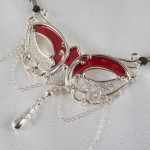 Love Mask Of Venice Silver G-String with Pleasure Pendant