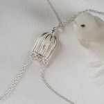 Bird Cage Non-Piercing Silver Nipple Necklace Breast Chain