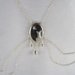 Moonlight Cameo Non-Piercing Silver Nipple Necklace Breast Chain