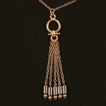 Eygptian 5 Tassel Hematite Waist Chain